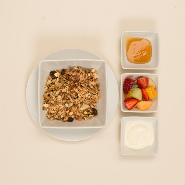 Muesli, Fruit Salad & Yoghurt